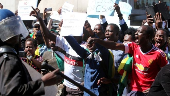 Manifestation à Harare