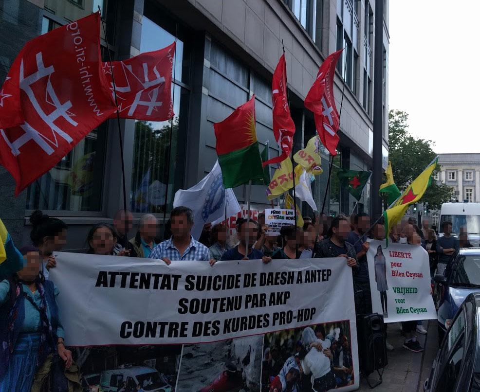 Manifestation pour Bilen à Bruxelles