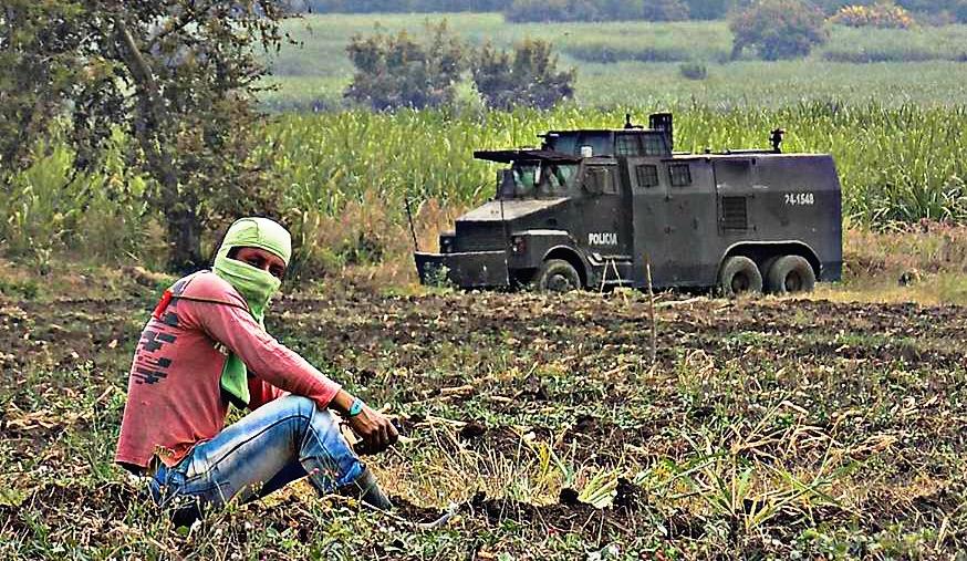 Affrontements entre Nasa et ESMAD dans le Cauca