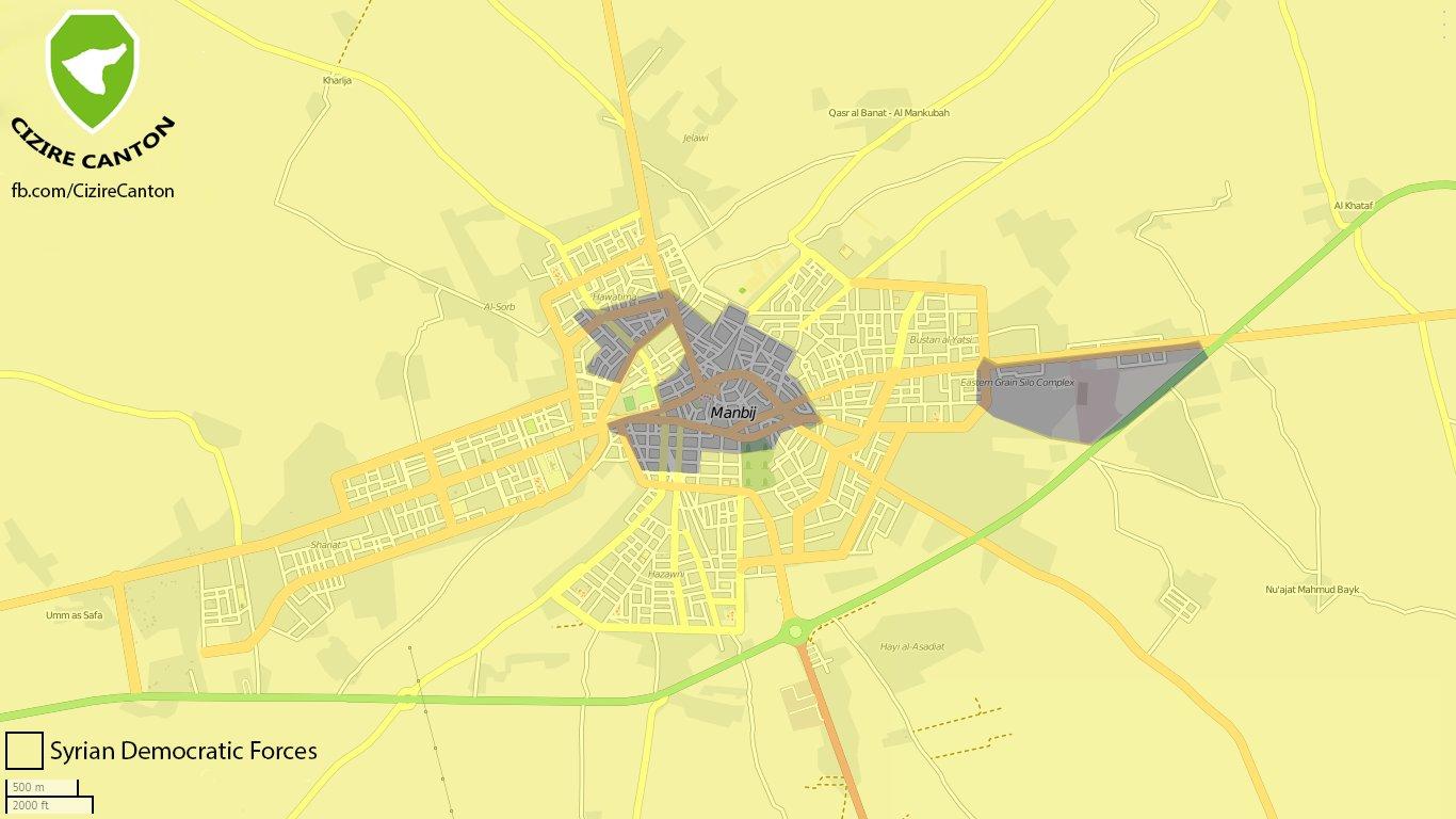 Manbij, situation au 5 août