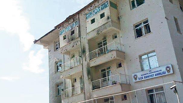 La gendarmerie de  Nazimiye après l'attaque