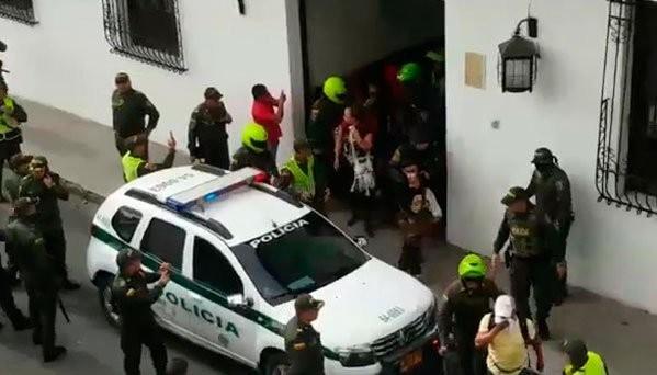 Les enseignants arrêtés à Popayan