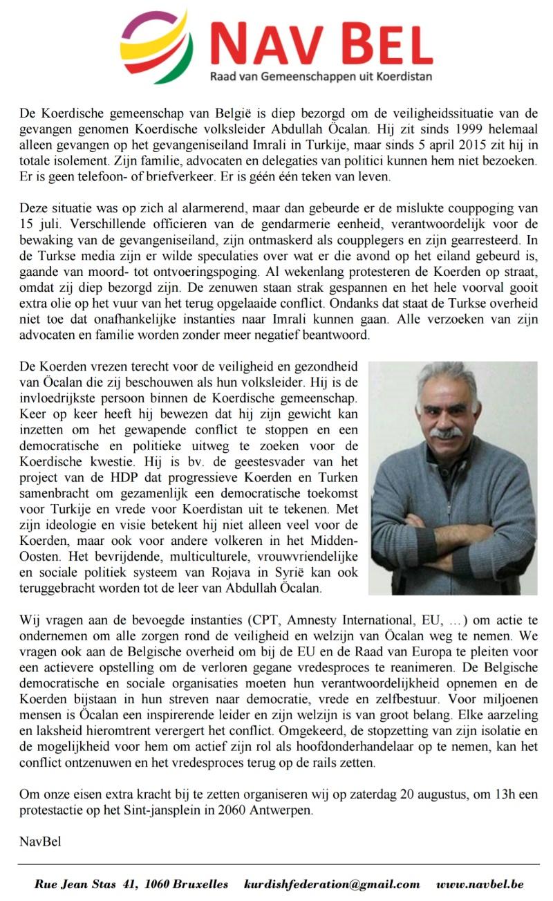 Rassemblement pour la libération d'Ocalan