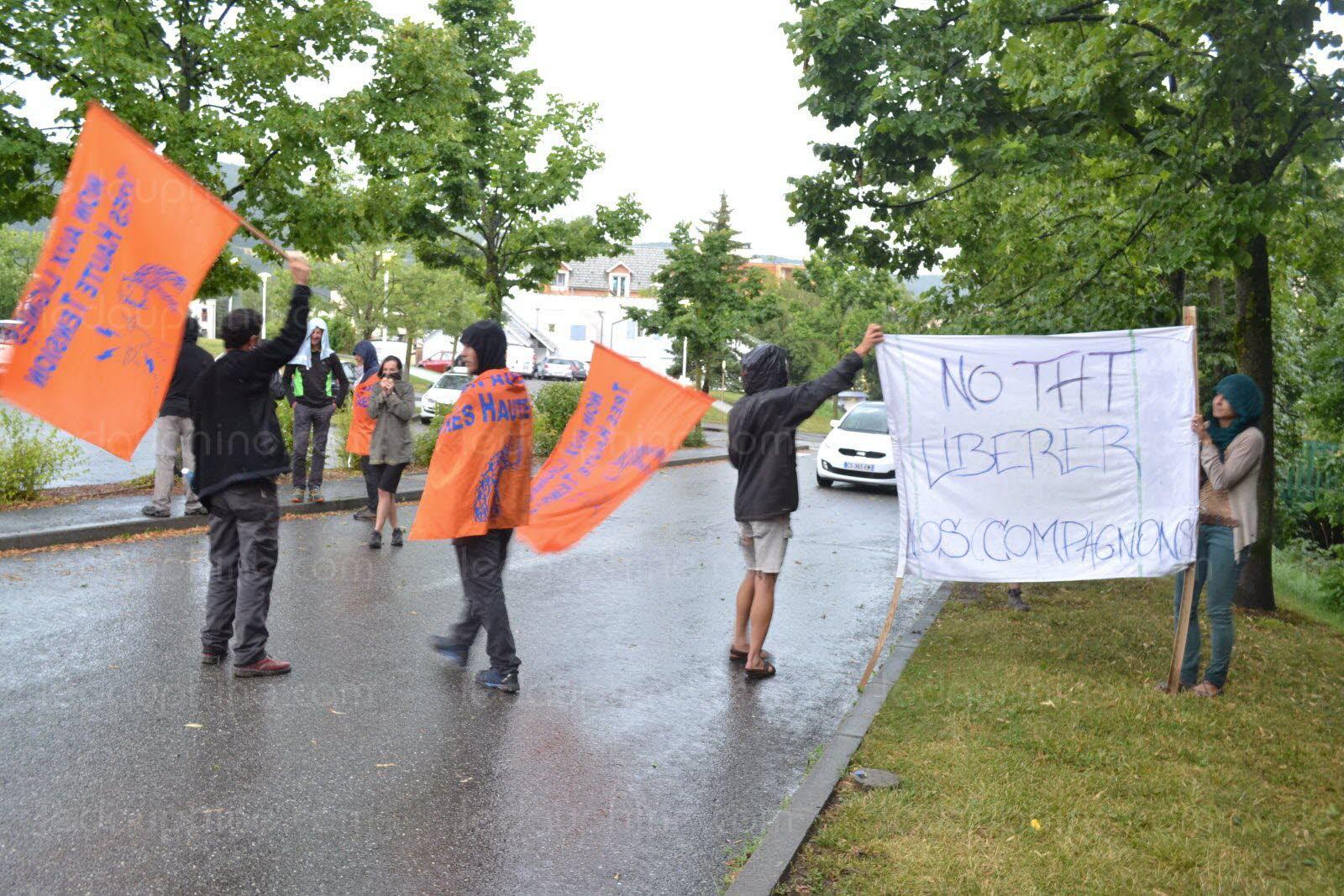 Au rassemblement pour la libération des manifestants