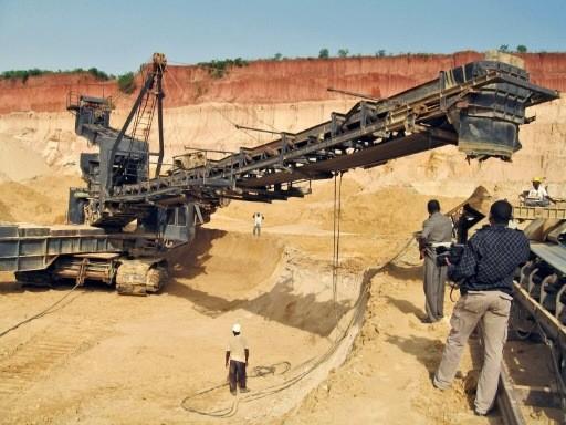 Une mine de phosphate au Togo