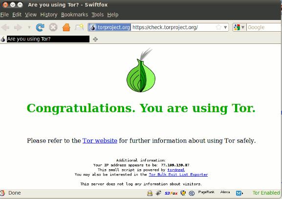 L'onion rassurant du projet TOR