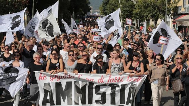 La manifestation d'Ajaccio