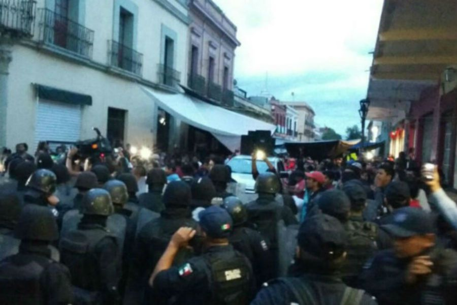 Lers affrontements d'Oaxaca