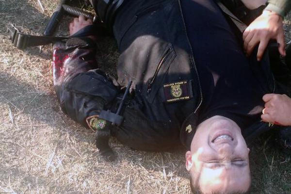 Un des policiers blessés