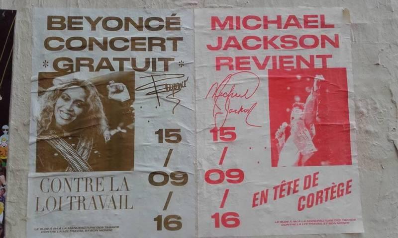Michael Jackson revient en tête de cortège
