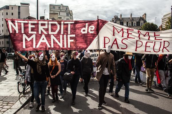Les interdits de manif à la manifestations de Rennes