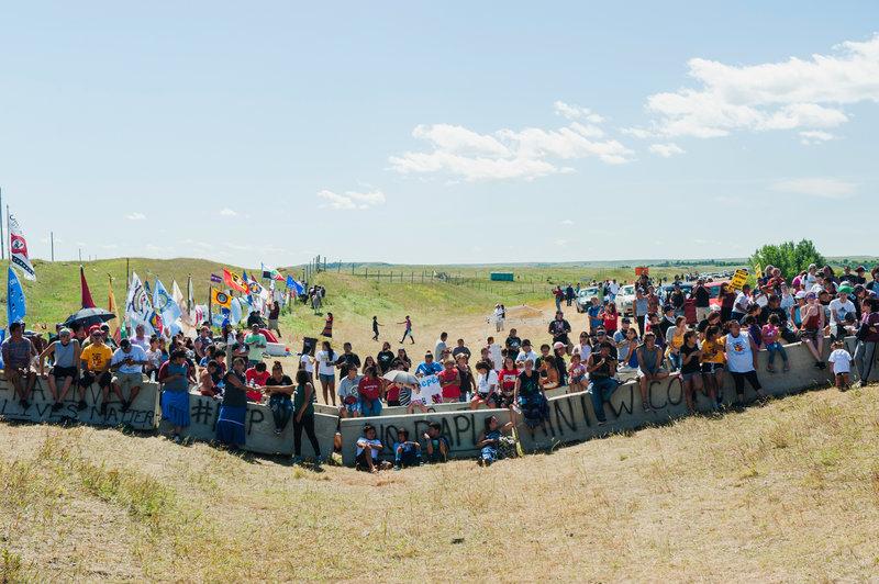 Des manifestants sioux