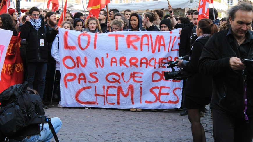 Une manifestation contre la loi Travail à Strasbourg