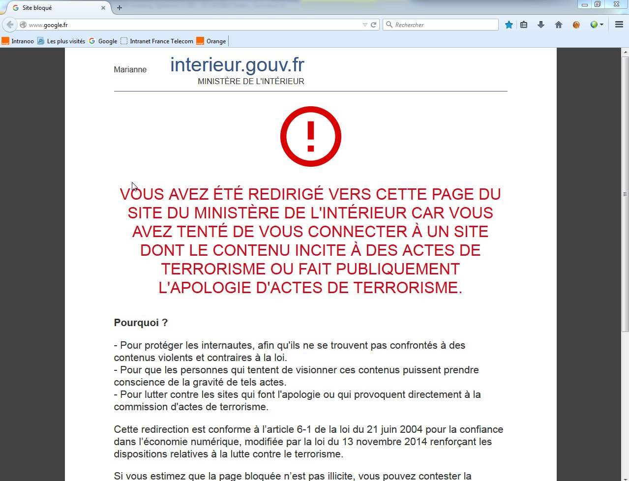 Les sites de Google, Wikipédia et OVH momentanément bloqués pour