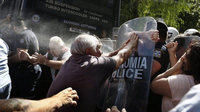 Manifestation des retraités à Athènes