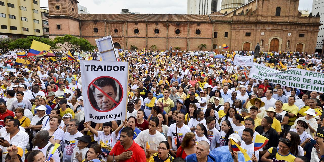 Manifestation de la droite nationaliste contre le processus de paix