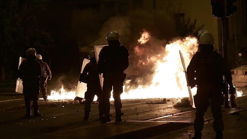 Affrontements hier à Athènes