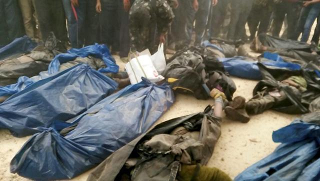 Les corps des maoïstes tués lors de l'opértation de Malkangiri.