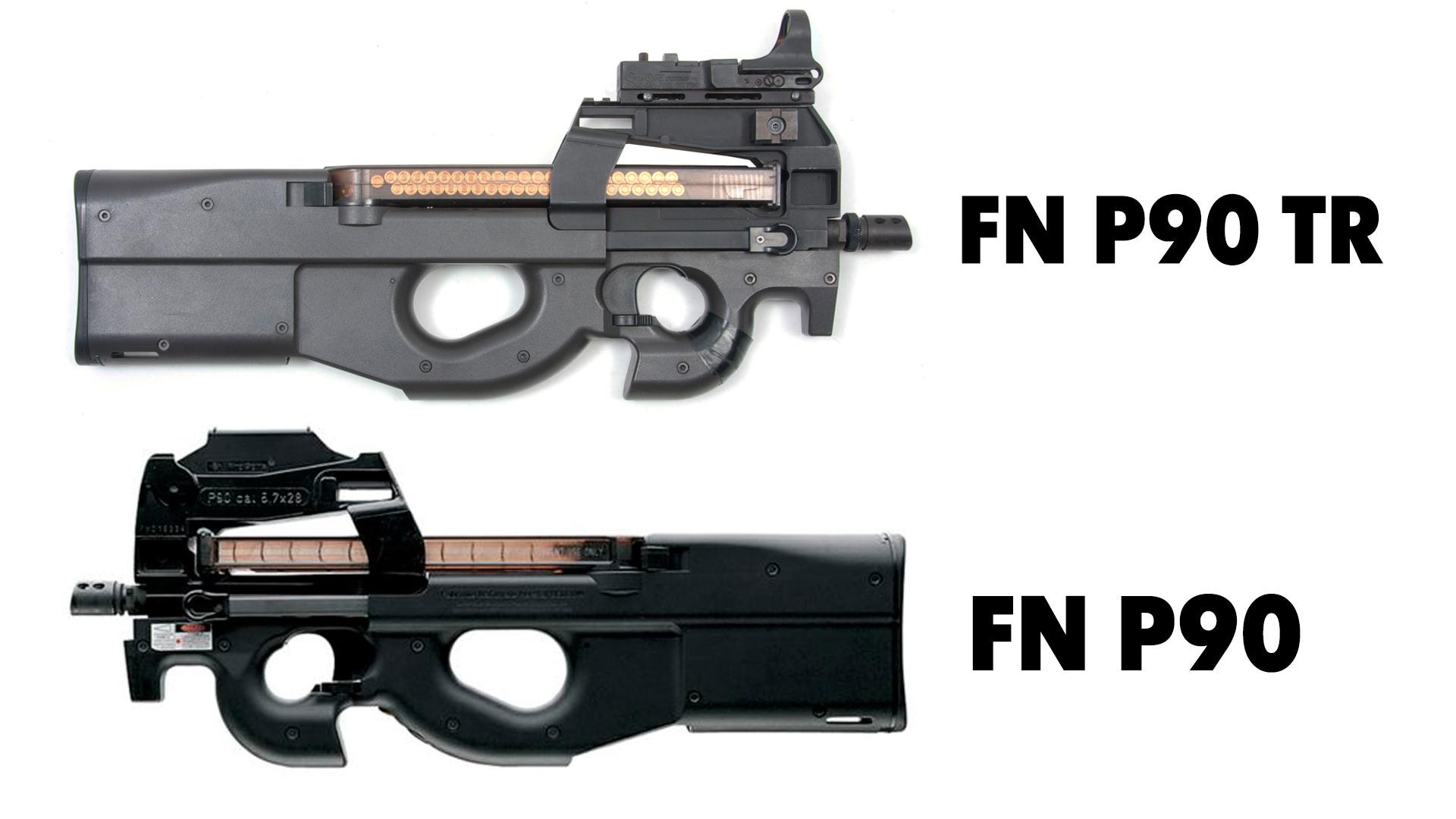 Parmi les modèles pressentis, le P90 de la FN