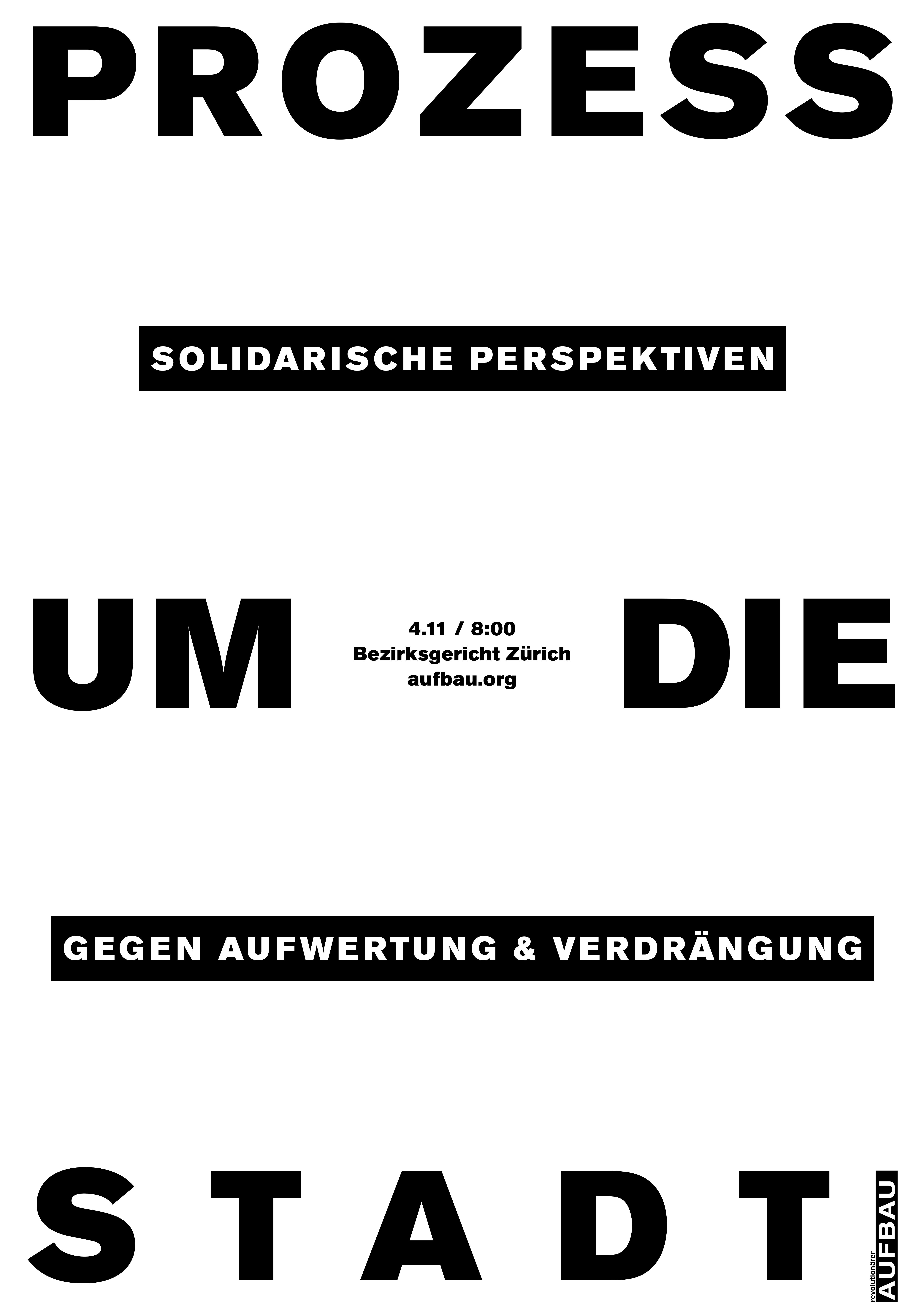 Procès sur la ville, perspectives solidaires contre le réaménagement et la répression