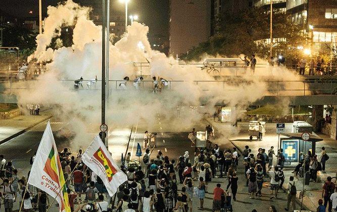 Les affrontements à Rio
