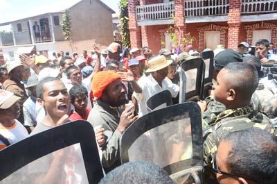 Manifestation à Soamahamanina