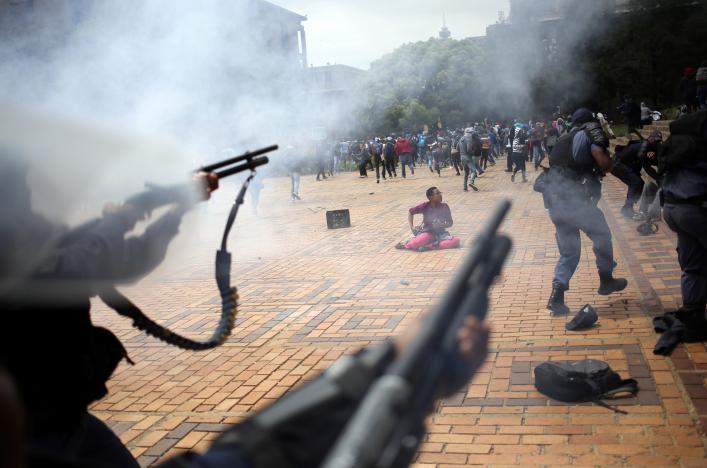 Affrontements à Witwatersand