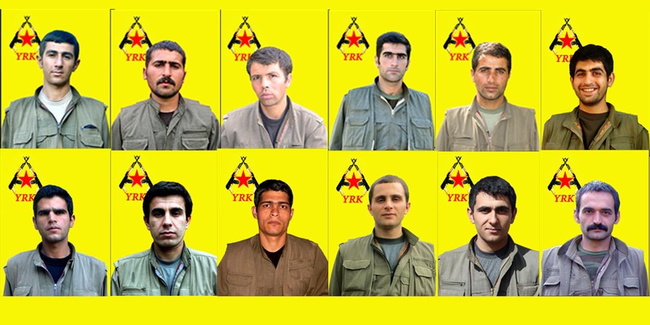 Les 12 combattants tués le 4 octobre