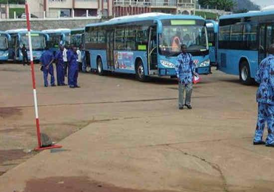 Au dépôt de la société TIC Le Bus