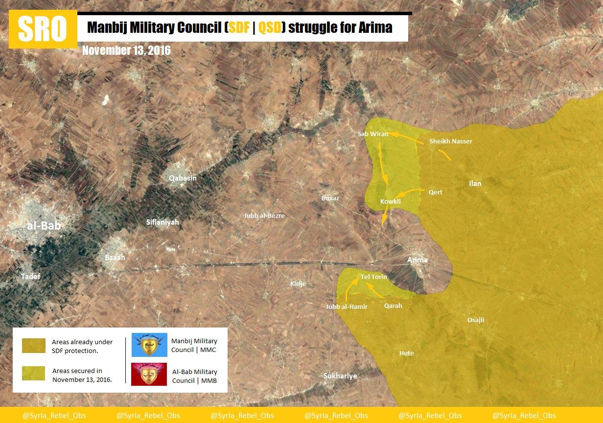 Le front oriental venant de Manbij se remet en mouvement