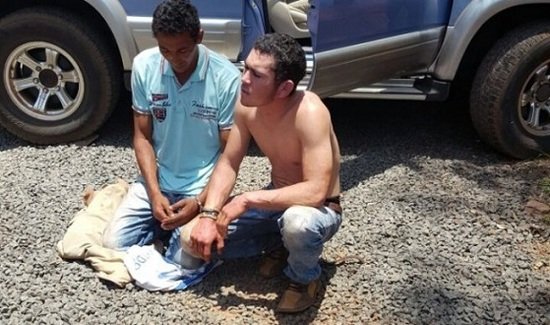 Deux des personnes capturées