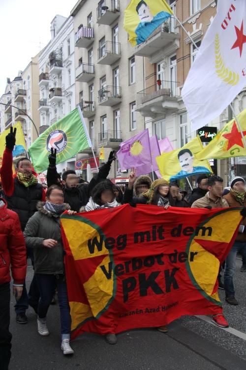 Manifestation à Hambourg contre l'interdiction du PKK (archive)