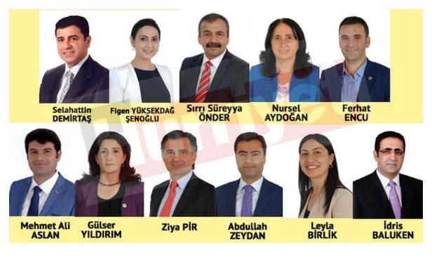 Les 11 premiers députés HDP arrêtés