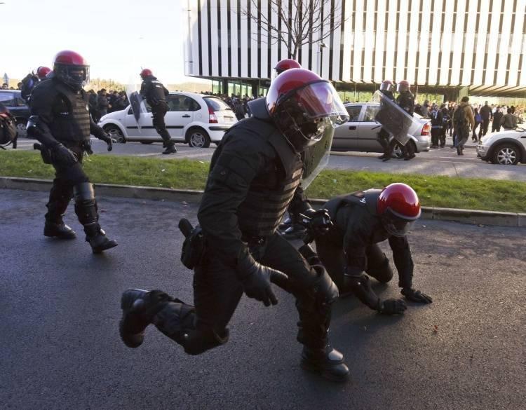 L'intervention des policiers sur le campus