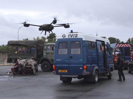 Le drone NX110 de la Gendarmerie en exercice opérationnel à Saint-Astier