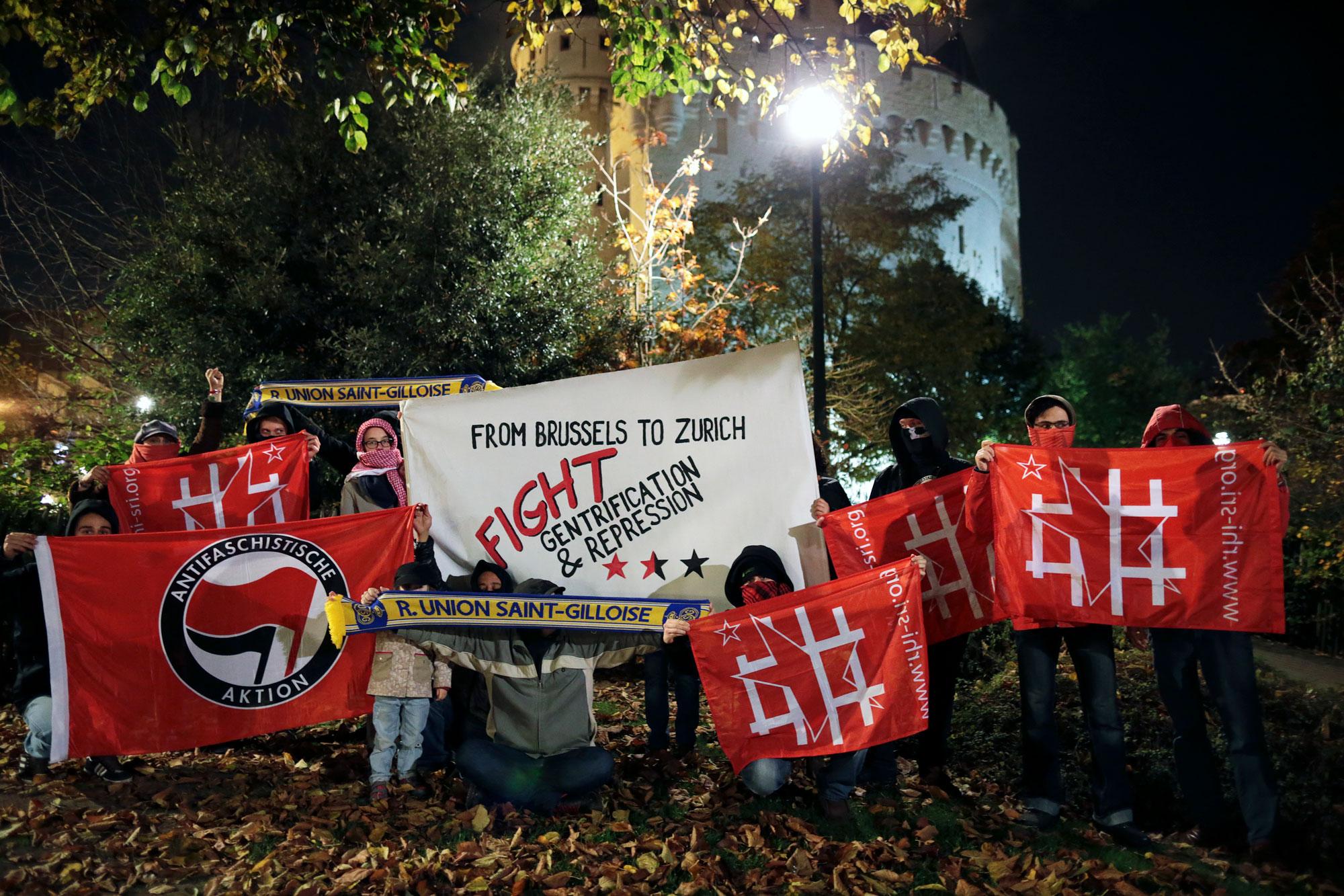 Photo solidaire prise à Bruxelles