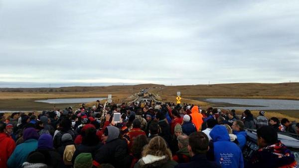Manifestation contre le Dakota Access
