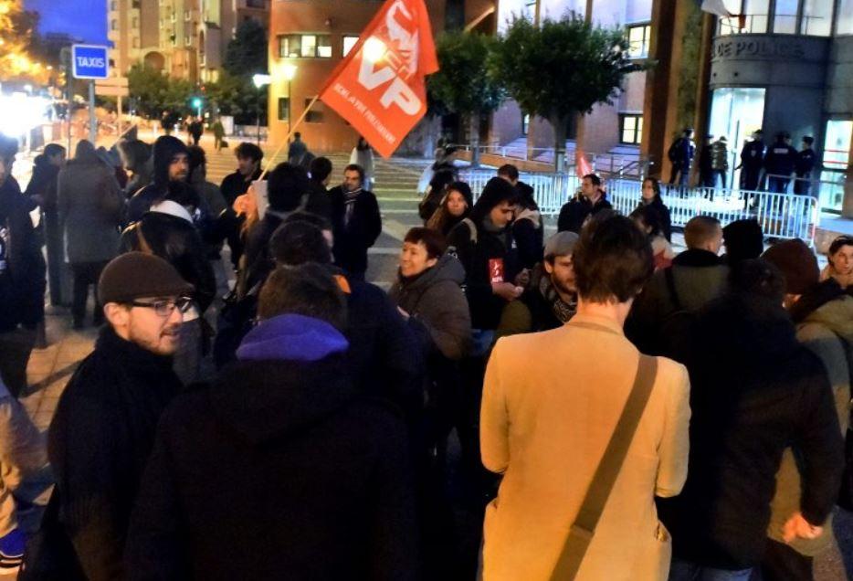 Manifestation en soutien aux militants contre la Loi Travail