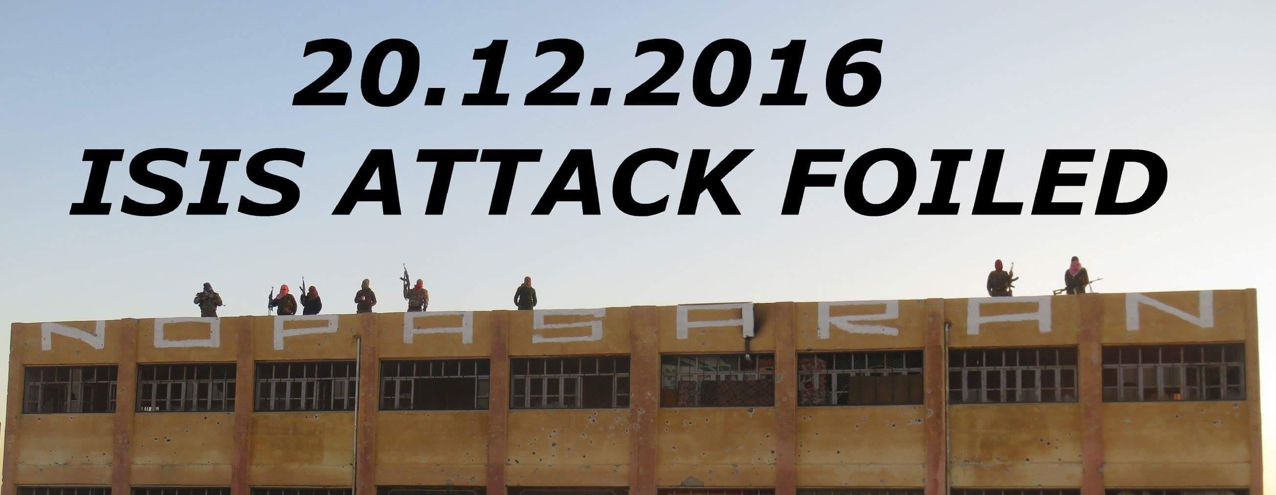 20 décembre, attaque de Daesh repoussée