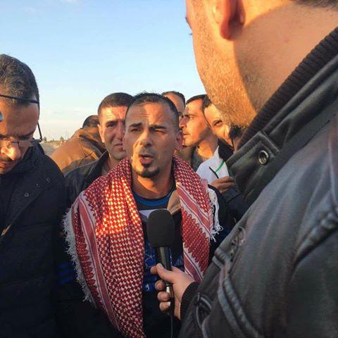 Bilal Kayed à sa libération cet après-midi