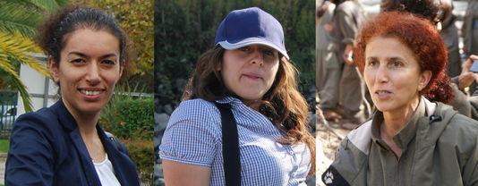 Les trois militantes kurdes assassinées à Paris en janvier 2013