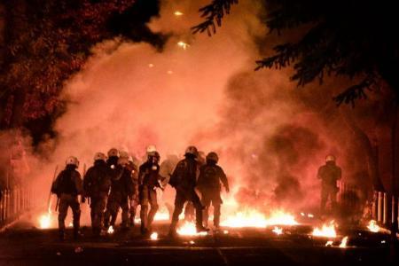 Les affrontements d'hier à Athènes