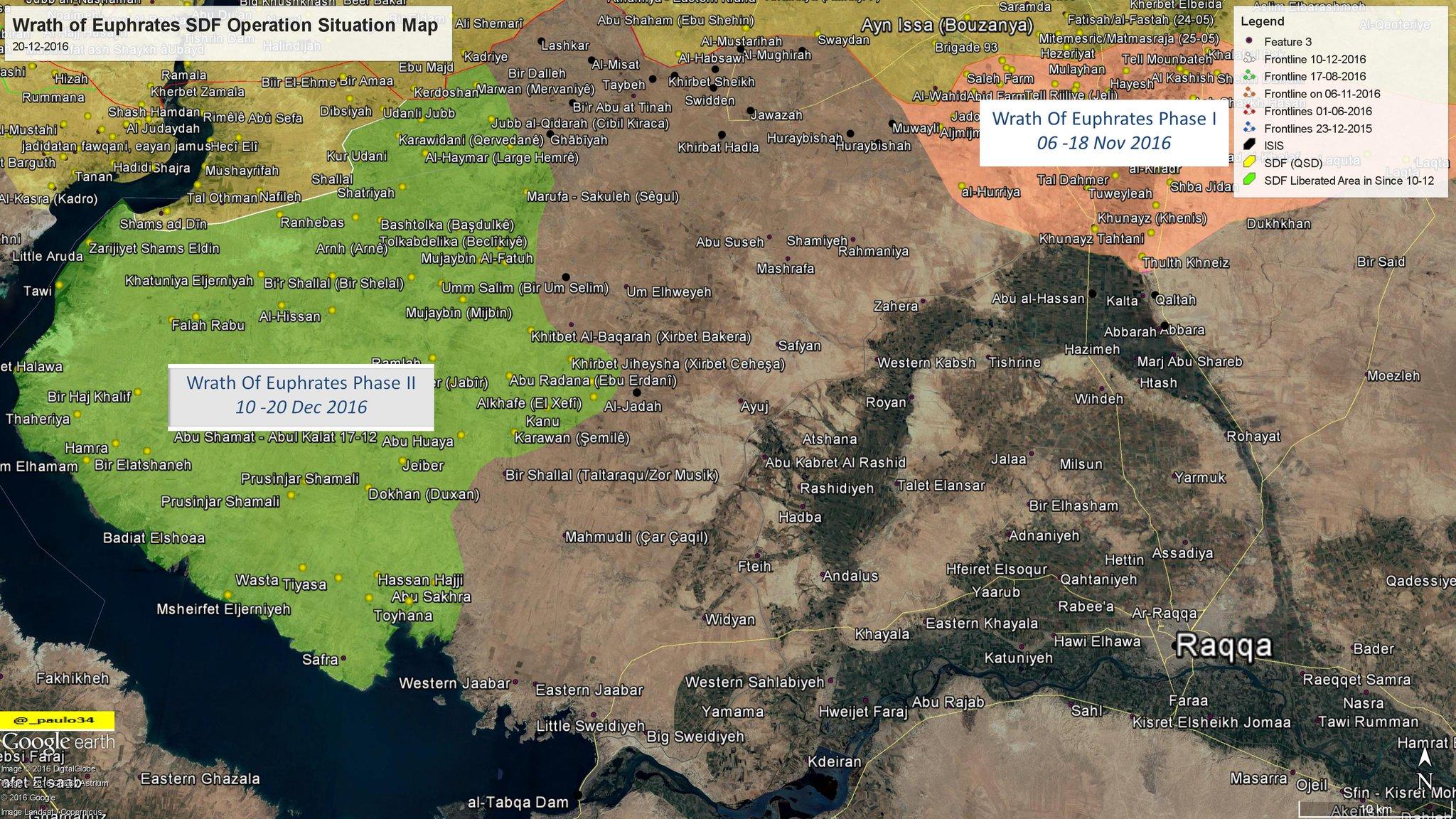 Progrès des QSD dans la province de Raqqah.