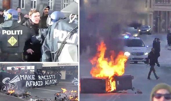 Les incidents hier à Copenhague