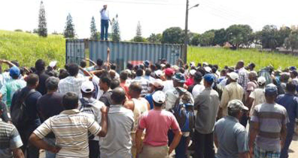 Meeting gréviste à la SUCAF en janvier dernier