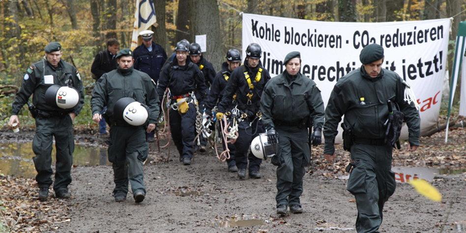 Opération policière dans la forêt d'Hambach (archive)