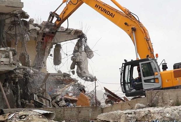 Destruction de maison à Jérusalem par les forces d'occupation (archive)