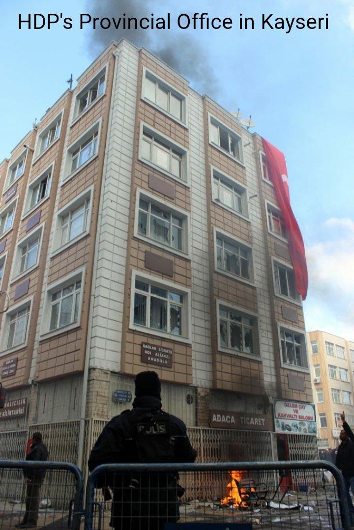 Le bureau du HDP à Kayserin