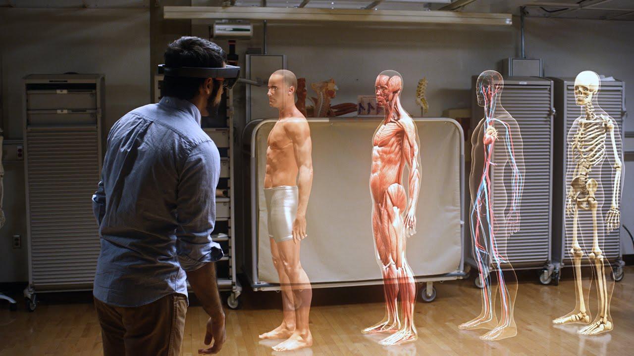 La réalité augmentée avec le système Hololens
