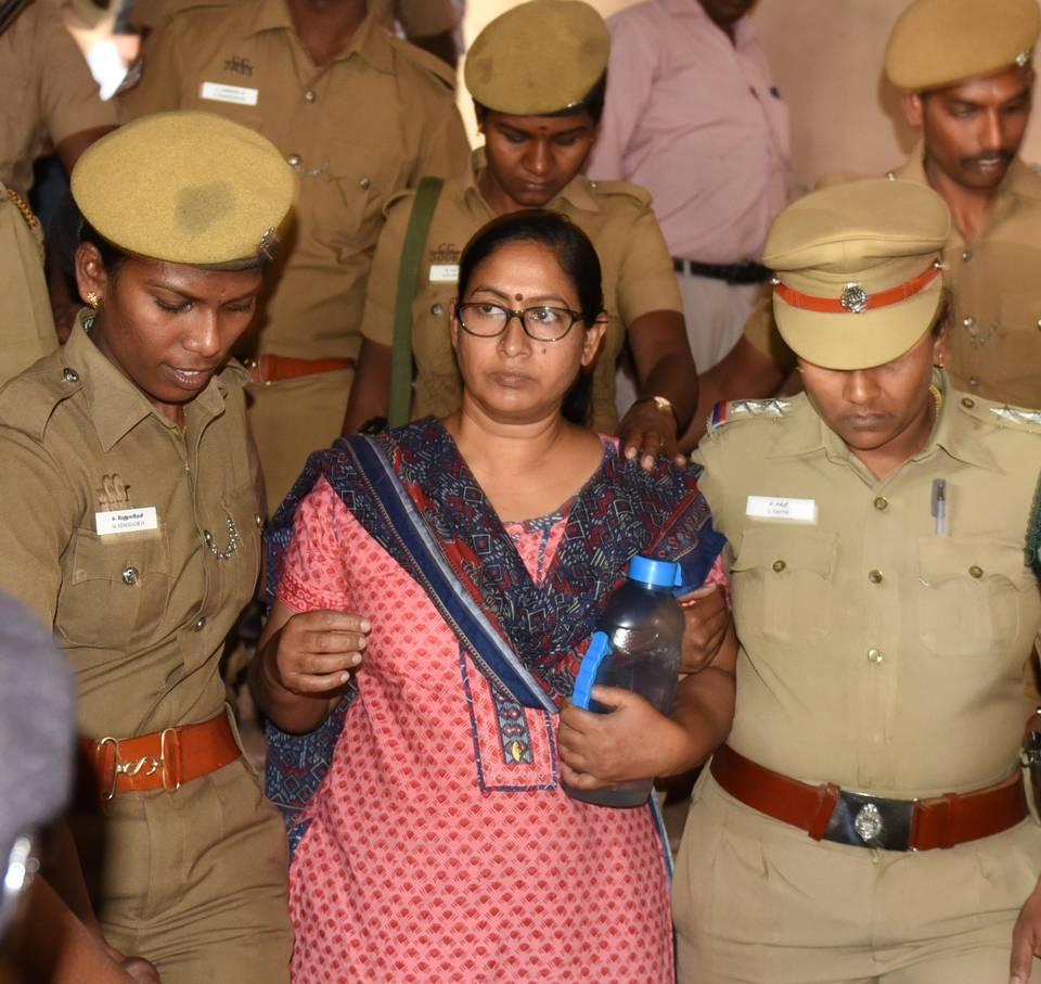 Shyna, dirigeant maoïste détenue à la prison centrale de Coimbatore